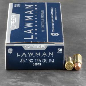 50rds - 357 Sig Speer Lawman 125gr. TMJ Ammo
