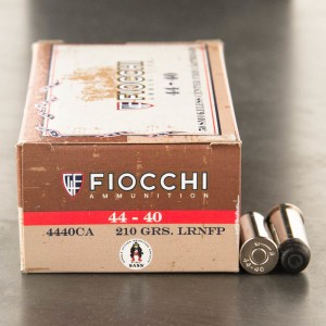 50rds – 44-40 Fiocchi Cowboy Action 210gr. LRN-FP Ammo