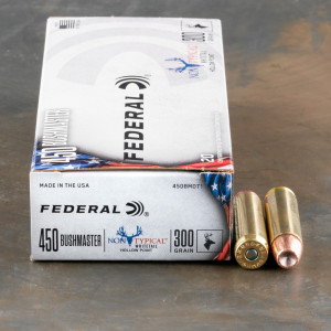 200rds – 450 Bushmaster Federal Non-Typical 300gr. JHP Ammo