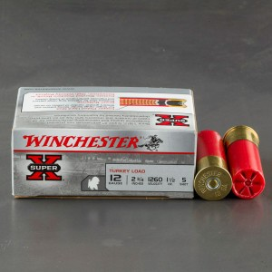 "10rds - 12 Gauge Winchester Super-X 2 3/4""  1 1/2oz.  #5 Turkey Load"