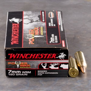 20rds - 7MM WSM Winchester 150gr Super-X Power Max Bonded PHP Ammo