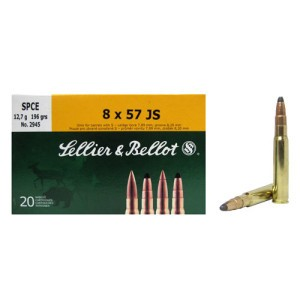 20rds - 8mm Mauser Sellier & Bellot 196gr. Soft Point Ammo