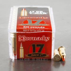 50rds - 17 Mach 2 Hornady 17gr. V-Max Polymer Tip Ammo