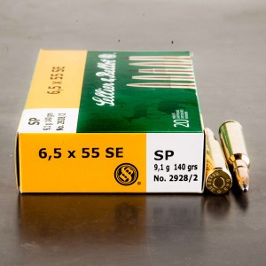 20rds - 6.5x55 Sellier & Bellot 140gr SP Ammo