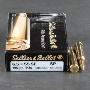 20rds – 6.5x55 Sellier & Bellot 140gr SJSP Ammo