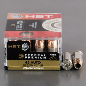 20rds - 45 ACP Federal Personal Defense HST 230gr. JHP Ammo