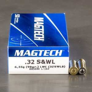 50rds - 32 S&W Long Magtech 98gr. Lead Wadcutter Ammo