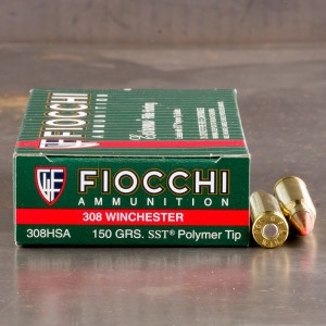 200rds - 308 Win Fiocchi 150gr. SST Polymer Tip Ammo