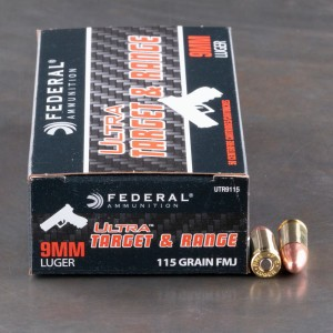 1000rds - 9mm Federal Ultra 115gr. FMJ Ammo