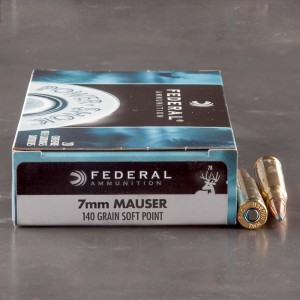 20rds - 7mm Mauser Federal Power-Shok 140gr. Speer Hot-Cor Soft Point Ammo