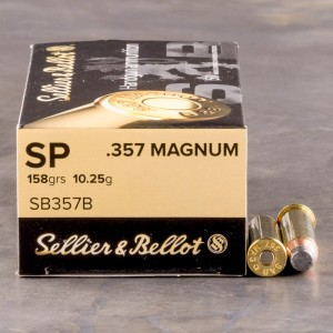 50rds - 357 Mag Sellier & Bellot 158gr. SP Ammo