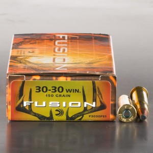 200rds - 30-30 Federal Fusion 150gr. Flat Nose SP Ammo