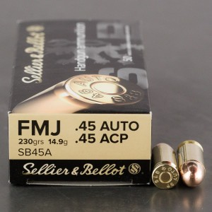 1000rds - 45 ACP Sellier & Bellot 230gr. FMJ Ammo