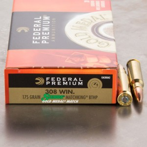 20rds - .308 Federal Gold Medal Match 175gr. BTHP Ammo