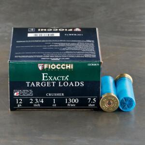 "250rds - 12ga Fiocchi CRUSHER 2 3/4"" 1oz. #7 1/2 Shot Target Ammo"