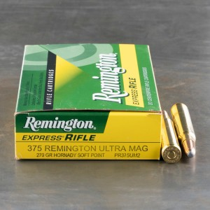 20rds - 375 RUM Remington Express 270gr. Hornady SP Ammo