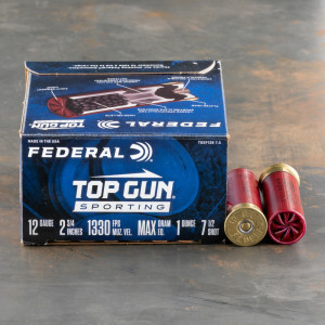 "25rds – 12 Gauge Federal Top Gun Sporting 2-3/4"" 1oz. #7.5 Shot Ammo"
