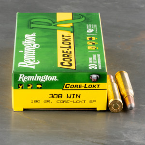 20rds - .308 Remington Express Core-Lokt 180gr. Soft Point Ammo