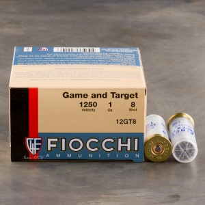 "25rds – 12 Gauge Fiocchi Game and Target 2-3/4"" 1oz. #8 Shot Ammo"