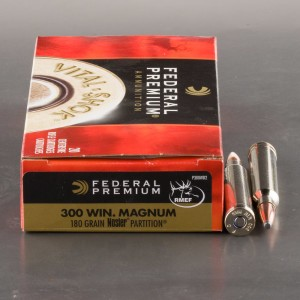 20rds - 300 Win Mag Federal Vital-Shok 180gr. Nosler Partition SP Ammo