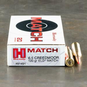20rds – 6.5 Creedmoor Hornady 120gr. ELD Match Ammo