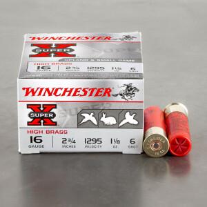 "250rds - 16 Gauge Winchester Super-X 2 3/4"" 1 1/8oz. #6 Shot Ammo"