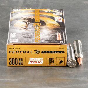 20rds – 300 Win Mag Federal 165gr. Barnes TSX Ammo