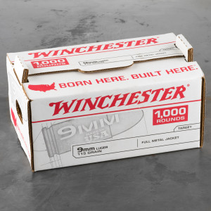 1000rds – 9mm Winchester USA 115gr. FMJ Ammo