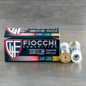 "10rds - 12 Gauge Fiocchi Low Recoil 2 3/4"" 7/8oz. Exacta Aero Slug Ammo"