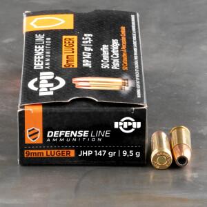 50rds - 9mm Luger Prvi Partizan 147gr. JHP Ammo