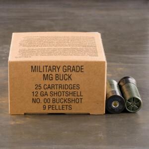 "250rds - 12 Gauge Winchester Military 2 3/4"" 9 Pellet 00 Buckshot Value Pack Ammo"