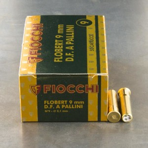 "50rds - 9mm Rimfire Flobert Fiocchi 1 3/4"" 1/4oz. #9 Shot Ammo"