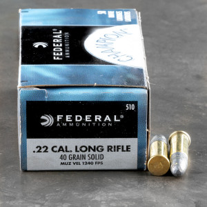 500rds - 22 LR Federal Champion 40gr. LRN Ammo