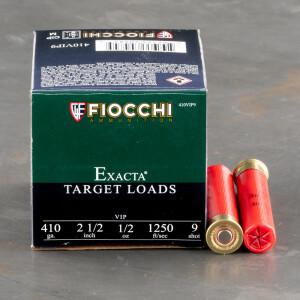 """25rds – 410 Bore Fiocchi 2-1/2"""" 1/2oz. #9 Shot Ammo"""