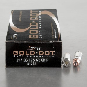 50rds – 357 SIG Speer Gold Dot LE 125gr. JHP Ammo