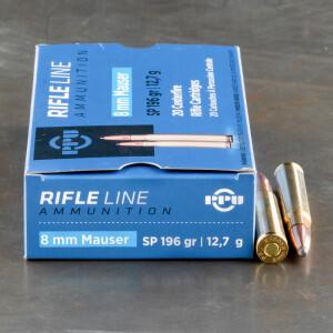 20rds - 8mm Mauser Prvi Partizan 196gr. Soft Point Ammo