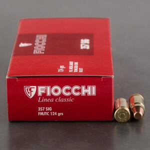 50rds - 357 Sig Fiocchi 124gr. FMJ Ammo