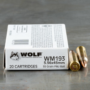 1000 Rounds of 5.56x45 Ammo by Wolf Gold - 55gr FMJ