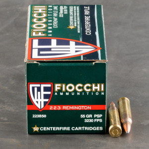 Fiocchi pointed soft point 223 ammo