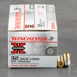 50rds - 32 S&W Long Winchester Super-X 98gr. LRN Ammo