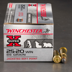50rds – 25-20 Winchester Winchester Super-X 86gr. SP Ammo