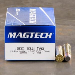 20rds - 500 S&W Magtech 400gr. SJSP Ammo