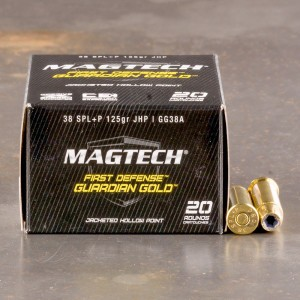 20rds - 38 Special MAGTECH Guardian Gold 125gr. +P HP Ammo