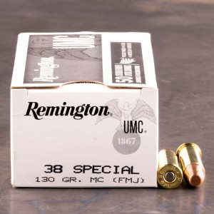 1000rds - 38 Special Remington UMC 130gr. MC Ammo