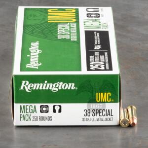1000rds - 38 Special Remington UMC 130gr. MC Ammo
