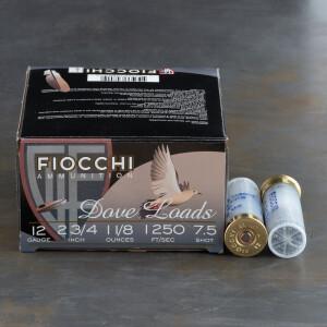 "250rds - 12 Gauge Fiocchi Game & Target 2 3/4"" 1 1/8 oz. #7 1/2 Shot Ammo"