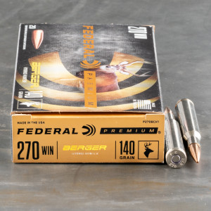 20rds – 270 Win Federal 140gr. Berger Hybrid Hunter Ammo
