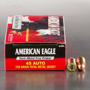 50rds - 45 ACP Federal American Eagle IRT 230gr. TMJ Ammo