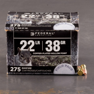 275rds – 22 LR Federal Field Pack 38gr. CPHP Ammo