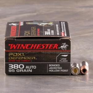 200rds - 380 Auto Winchester Supreme Elite 95gr. JHP Ammo